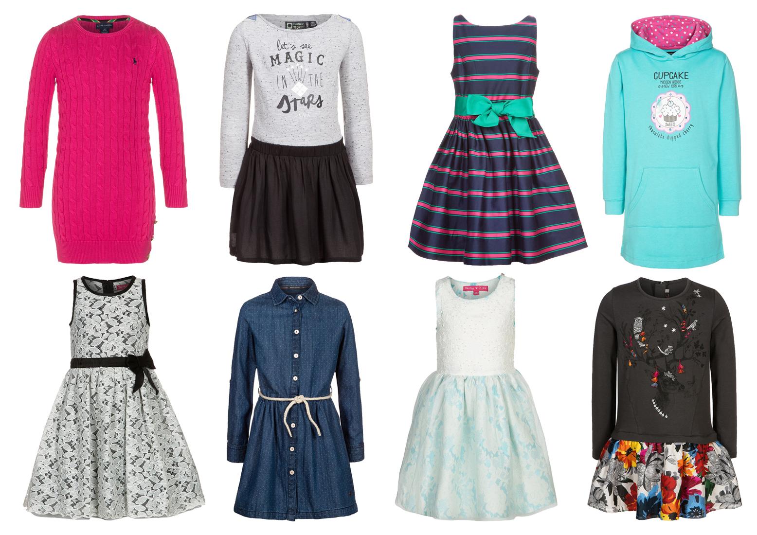 Kolorowe sukienki dziewczęce