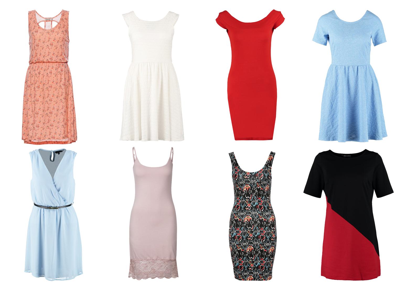 Tanie sukienki w różnych kolorach