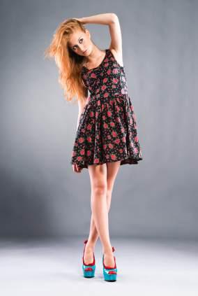 Suknia młodzieżowa z butami